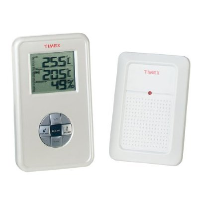 TIMEX OUTDOOR THERMOMETER + HYGROMETER 12606 Enlarged Preview